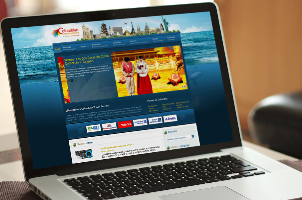Diseño de Paginas Web en Colombia Travel Service
